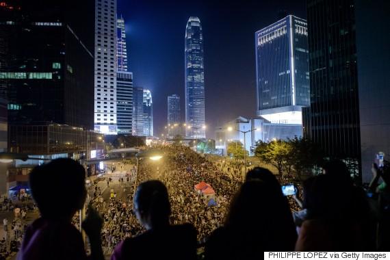 hong kong crowd