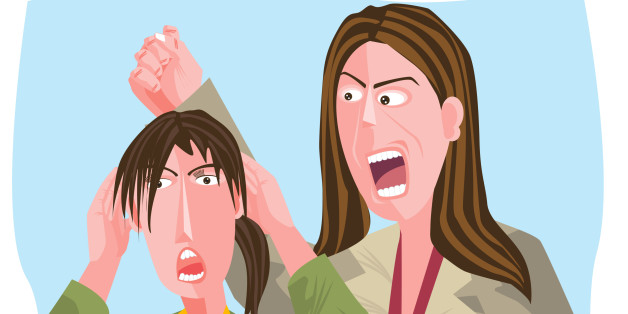 Businesswoman shouting at another businesswoman