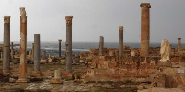 A picture shows the ancient Roman city of Sabratha, 90 kms west of the Libyan capital Tripoli, September 29, 2011.  AFP PHOTO/PATRICK BAZ (Photo credit should read PATRICK BAZ/AFP/Getty Images)