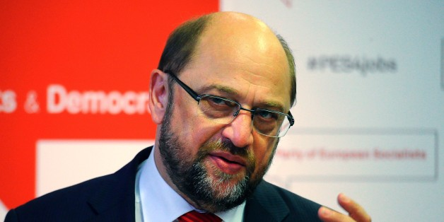 President of the European Parliament Martin Schulz attends a press conference in Budapest Congress Center on June 12, 2015 after the first plenary session of the 10th congress of Party of European Socialists (PES).  AFP PHOTO / ATTILA KISBENEDEK        (Photo credit should read ATTILA KISBENEDEK/AFP/Getty Images)