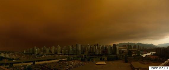 vancouver sky smoke