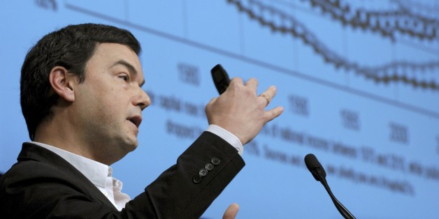 France's influential economist Thomas Piketty, author of the bestseller 'Capital in the 21st Century' addresses  a keynote speech during a symposium Les Entretiens du Tresor at the Economy Ministry in Paris on January 23, 2015. AFP PHOTO / ERIC PIERMONT        (Photo credit should read ERIC PIERMONT/AFP/Getty Images)