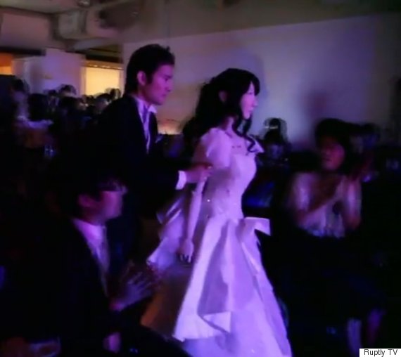 japan robot wedding