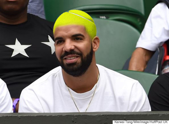 drake tennis ball hair