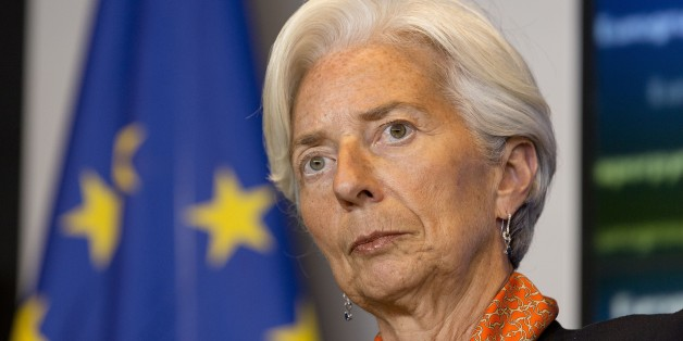 International Monetary Fund managing director Christine Lagarde takes part in a press conference at the end of a eurozone finance ministers meeting at the European Union Council headquarters in Luxembourg on June 18, 2015. Greece must make the next move towards reaching a debt deal with its EU-IMF creditors but there is little chance of an agreement at a meeting of eurozone finance ministers on June 18, Eurogroup chief Jeroen Dijsselbloem. AFP PHOTO / THIERRY MONASSE        (Photo credit should