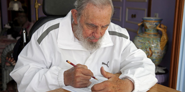 Cuba's leader Fidel Castro prepares his vote for municipal elections at his house in Havana,  Cuba,  Sunday, April 19, 2015. Cuba held its first local elections, which allow direct voting for delegates to municipal assemblies that deal with local issues, since a historic thaw in relations with the United States with an unusual wrinkle in the single-party system: two of the 27,000 candidates openly oppose the government.(AP Photo/Alex Castro)