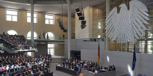 German Chancellor Angela Merkel delivers a speech during a session at the Bundestag lower house of parliament on the Greek crisis on July 1, 2015 in Berlin. AFP PHOTO / ODD ANDERSEN        (Photo credit should read ODD ANDERSEN/AFP/Getty Images)