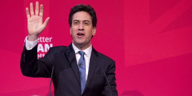 Opposition Labour leader Ed Miliband makes a speech at The ARC Theatre & Arts Centre on living standards in Stockton-on-Tees, northeast England, on April 27, 2015. Britain goes to the polls to elect a new parliament on May 7. AFP PHOTO / OLI SCARFF        (Photo credit should read OLI SCARFF/AFP/Getty Images)