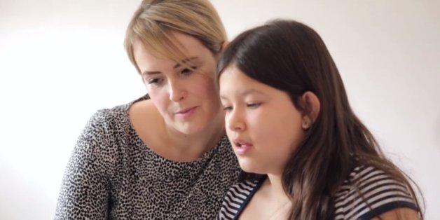 Nicola Marshall and her daughter, Lily