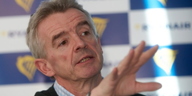 Michael O'Leary, CEO of Irish low-cost carrier Ryanair, gestures during a press conference on January 13, 2015 at the Hahn airport in Lautzenhausen, western Germany.   AFP PHOTO / THOMAS FREY        (Photo credit should read THOMAS FREY/AFP/Getty Images)