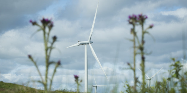 Turbines at Whitelee Windfarm in East Renfrewshire, the UK's largest onshore wind farm