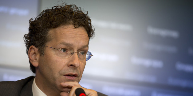 Dutch Finance Minister and chair of the eurogroup Jeroen Dijsselbloem speaks during a media conference after a meeting of eurogroup finance ministers at the European Council building in Luxembourg on Thursday, June 18, 2015. Greece faced intense pressure Thursday from its international creditors to break a deadlock in bailout discussions that's raised the specter of the country's imminent bankruptcy and even its exit from the euro. (AP Photo/Virginia Mayo)