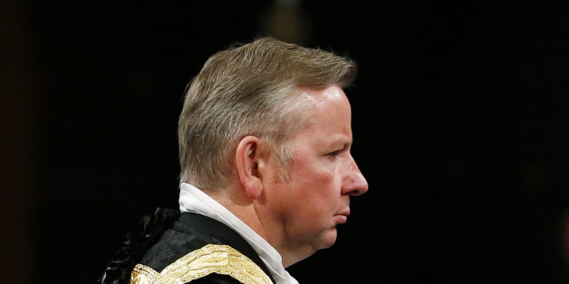 Justice Secretary Michael Gove before the State Opening of Parliament, in the House of Lords at the Palace of Westminster in London.