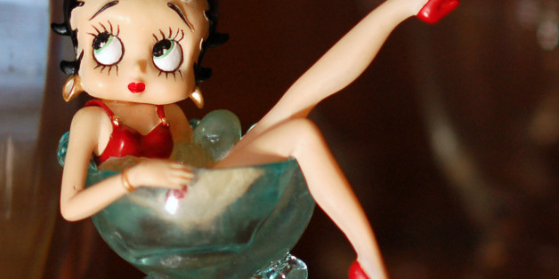 """Another look at the Betty Boop figurine I captured <a href=""""http://www.flickr.com/photos/gwilmore/3099564138/"""">several weeks earlier,</a> at the same location, but with very different lighting. This was taken perhaps 90 minutes before sunset, using available light shining through the front window."""