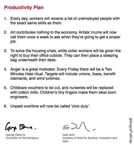 george osborne productivity plan