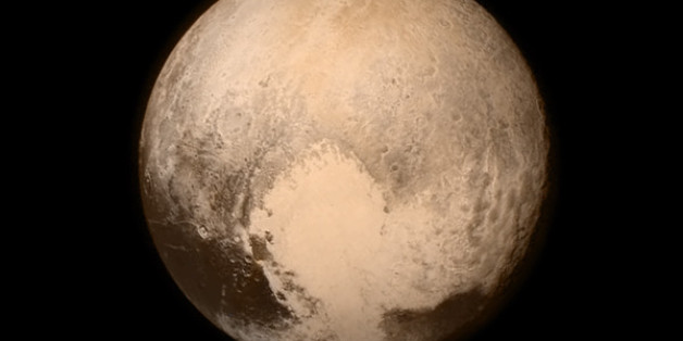 This July 13, 2015 image provided by NASA shows Pluto from the New Horizons spacecraft.  The United States is now the only nation to visit every single planet in the solar system. Pluto was No. 9 in the lineup when New Horizons departed Cape Canaveral, Fla, on Jan. 19, 2006  (NASA via AP)