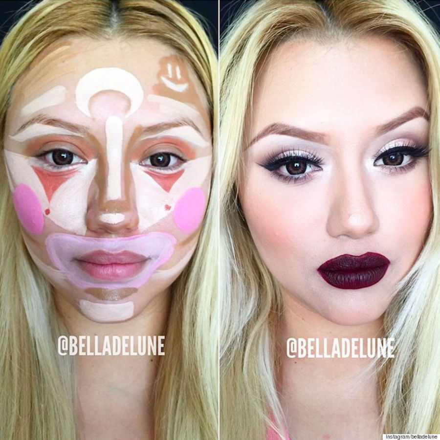 clown contouring