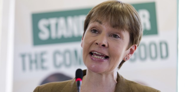 Green Party candidate for Brighton Pavilion Caroline Lucas gives an address at the launch of the party's general election manifesto in London on April 14, 2015. Britain goes to the polls on May 7 to elect a new parliament. AFP PHOTO / JUSTIN TALLIS        (Photo credit should read JUSTIN TALLIS/AFP/Getty Images)