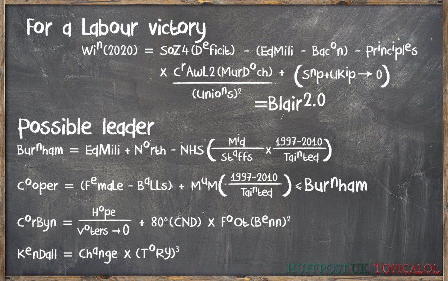labour leader victory formula maths equation