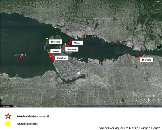 vancouver oil spill spread