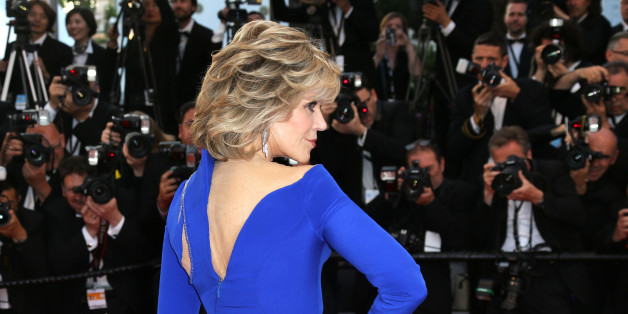 Jane Fonda poses for photographers upon arrival for the screening of the film The Sea of Trees at the 68th international film festival, Cannes, southern France, Saturday, May 16, 2015. (Photo by Joel Ryan/Invision/AP)