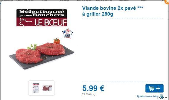 prix viande
