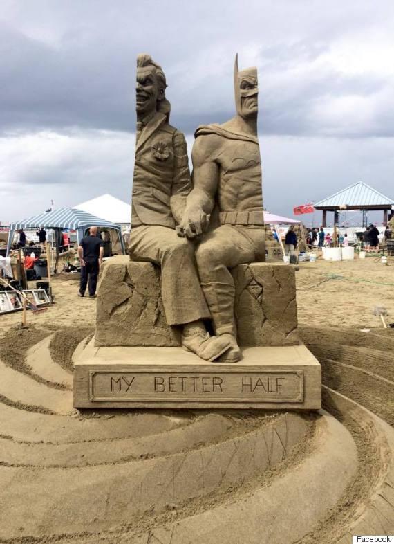 batman sand sculpture