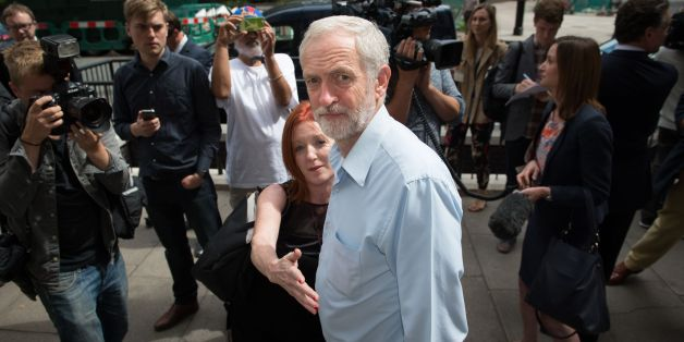 "Labour leader contender, Jeremy Corbyn leaves the Royal College of Nursing in central London after delivering a speech where he set out an economic plan involving higher taxes on the rich and businesses, ""sharply rising"" investment in the economy and a clampdown on tax avoidance and evasion."