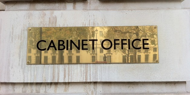 Sign outside Cabinet Office, Whitehall, London SW1