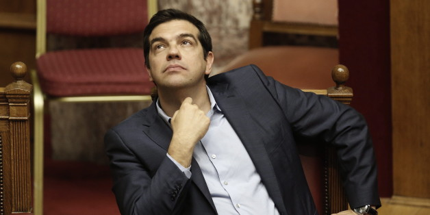 Alexist Tspiras im griechischen Parlament