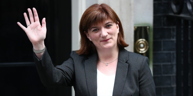 LONDON, ENGLAND - MAY 11:  Nicky Morgan, who will continue as Secretary of State for Education, arrives at Downing Street on May 11, 2015 in London, England. Prime Minister David Cameron continued to announce his new cabinet with many ministers keeping their old positions.  (Photo by Carl Court/Getty Images)