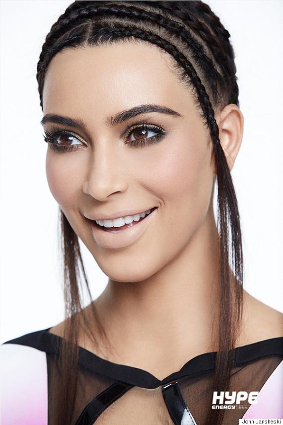 kim kardashian cornrolls