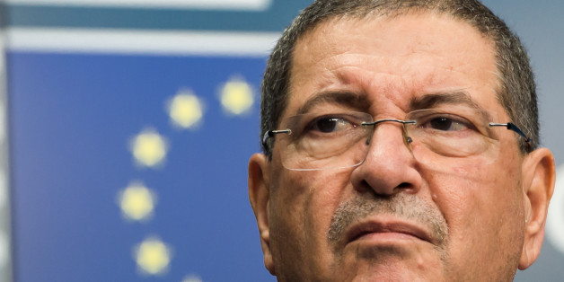 Tunisia's Prime Minister Habib Essid addresses the media at the EU Council building in Brussels on Monday July 20, 2015. (AP Photo/Geert Vanden Wijngaert)