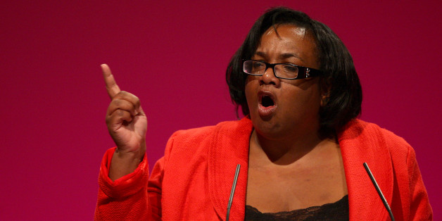 Diane Abbott speaking at the Labour Party's annual conference in Manchester.