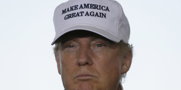 Republican presidential hopeful Donald Trump listens to a question at the World Trade International Bridge in Laredo, Texas, Thursday, July 23, 2015. (AP Photo/LM Otero)