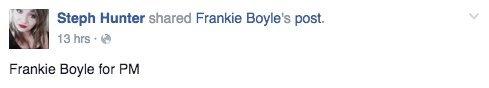 frankie boyle reaction