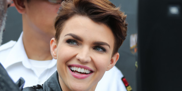 LOS ANGELES, CA - JULY 08:  Actres/model Ruby Rose is seen Universal CityWalk on July 8, 2015 in Los Angeles, California.  (Photo by Paul Archuleta/GC Images)