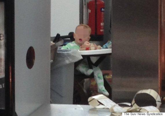 baby in mcdonalds