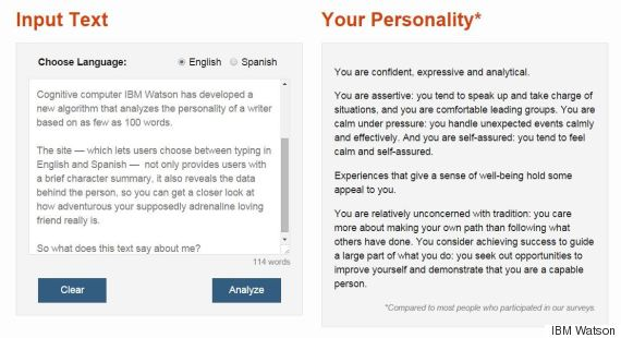 this program will tell you your personality based on how you write