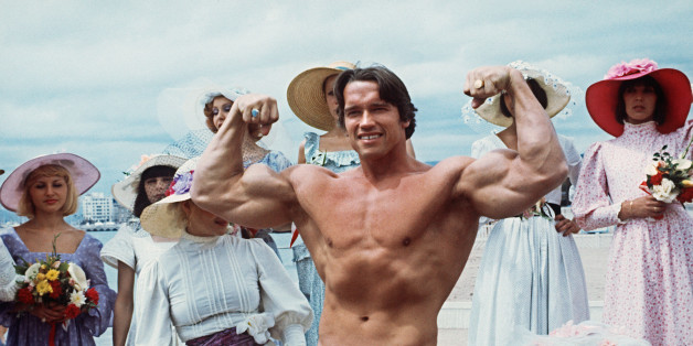 CANNES, FRANCE:  Picture taken 19th May 1977 of American actor Arnold Schwarzenegger during the 38th Cannes film festival. The actor presented Pumping Iron, a documentary whom spreads his fame beyond bodybuilding circles. Arnold Schwarzenegger was born 30th June 1947 in the small isolated village of Graz, Austria.  Now, he is chairman of the Inner-City Games Foundation, this program covers 10 city's and is continuing to grow. He poses 21th June 2003, new threat to beleaguered California governor. AFP PHOTO (Photo credit should read AFP/AFP/Getty Images)