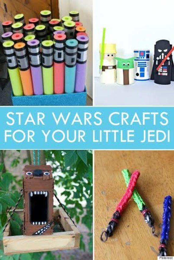 14 Fun Star Wars Crafts For Your Little Jedi Huffpost Canada