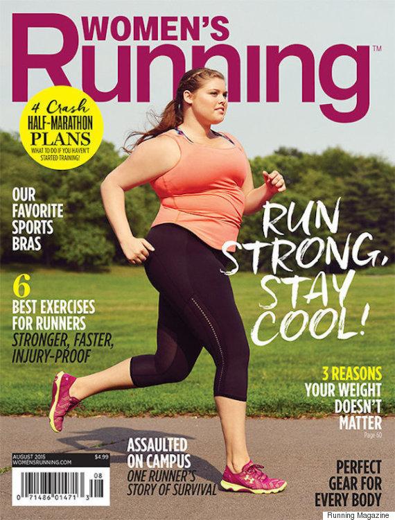 running magazine plus size model
