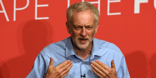 Jeremy Corbyn takes part in a Labour Party leadership hustings event in Warrington, north west England on July 25, 2015, hosted by journalist Paul Waugh. With Britain's political class starting its summer recess this week, commentators say Labour must consider whether it wants to be simply a principled opposition or a party with a real shot at power at the next general election in 2020. AFP PHOTO / PAUL ELLIS        (Photo credit should read PAUL ELLIS/AFP/Getty Images)