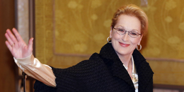 "Actress Meryl Streep arrives for a photocall for her film ""Into the Woods"" in Tokyo Thursday, March 5, 2015. (AP Photo/Shuji Kajiyama)"