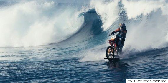 motorbike surfing