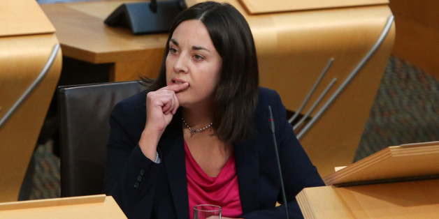 Scottish Labour Party deputy leader Kezia Dugdale during First Minister Questions at the Scottish Parliament in Edinnburgh.