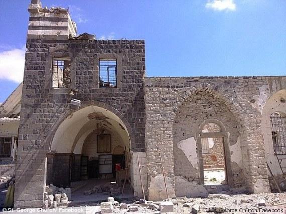 chiesa devastata siria