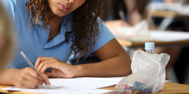 """File photo dated 13/06/08 of a pupil after a GCSE English exam as a """"pressure cooker environment"""" in schools is affecting children's mental health and self-esteem, a charity has said."""
