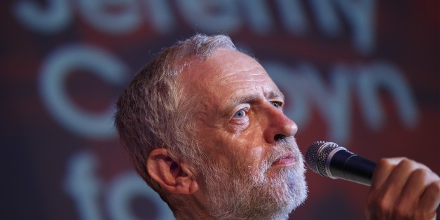 LONDON, UNITED KINGDOM - AUGUST 03: Labour Party leader candidate Jeremy Corbyn delivers a speech during a rally at Camden Centre in London, England on August 3, 2015. (Photo by Tolga Akmen/Anadolu Agency/Getty Images)