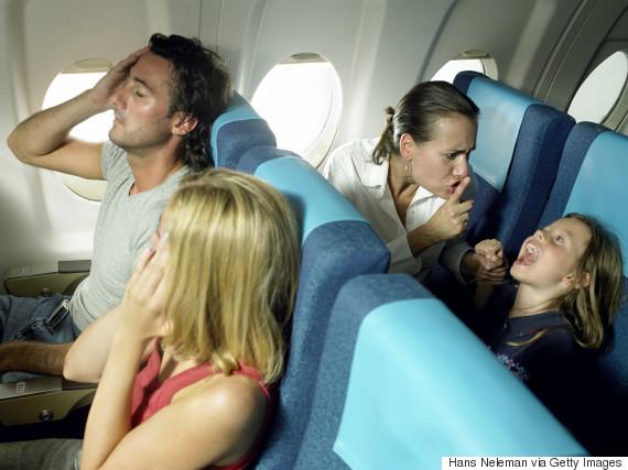 crying child on plane